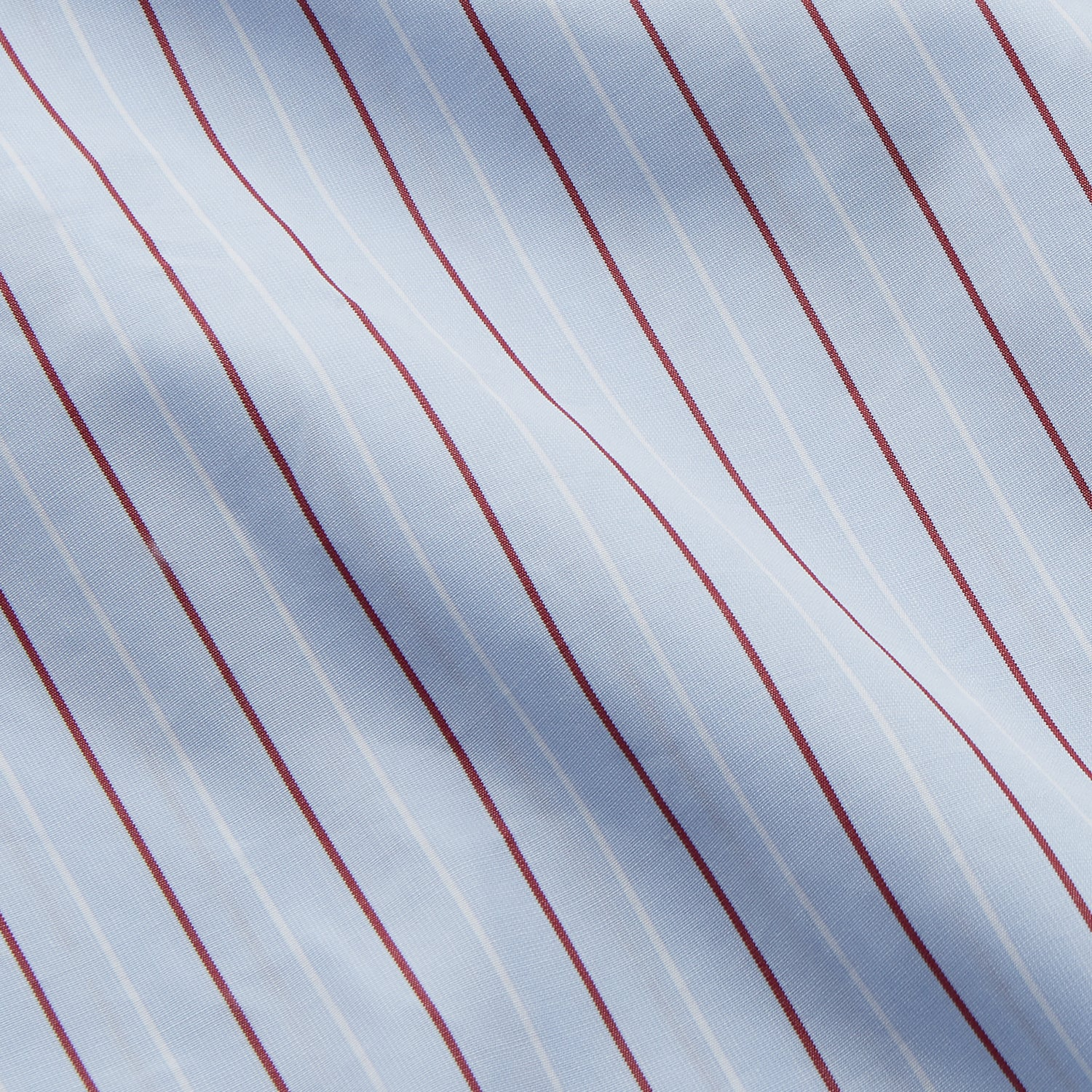 Burgundy Stripe Regular Fit Shirt with T&A Collar and Double Cuffs