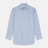 Blue Stripe Shirt with T&A Collar and 3-Button Cuffs