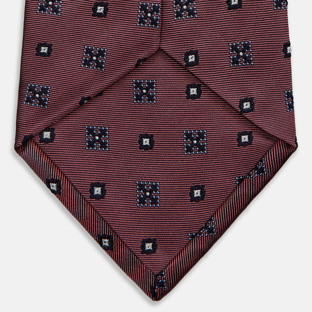 Pink Spot Shield Silk Tie