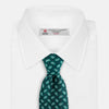 Green Abstract Paisley Silk Tie