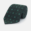 Green Illusion Flower Silk Tie