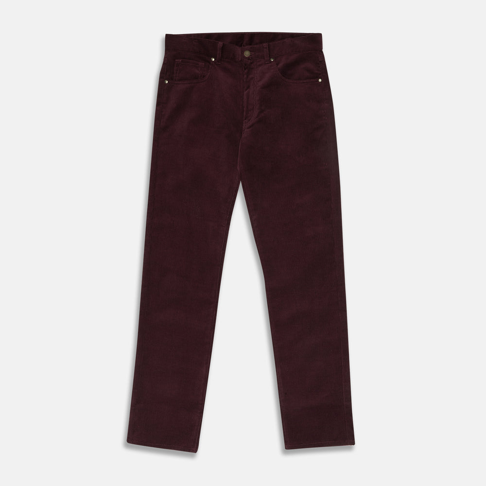 Plum Cord Mylo Trousers