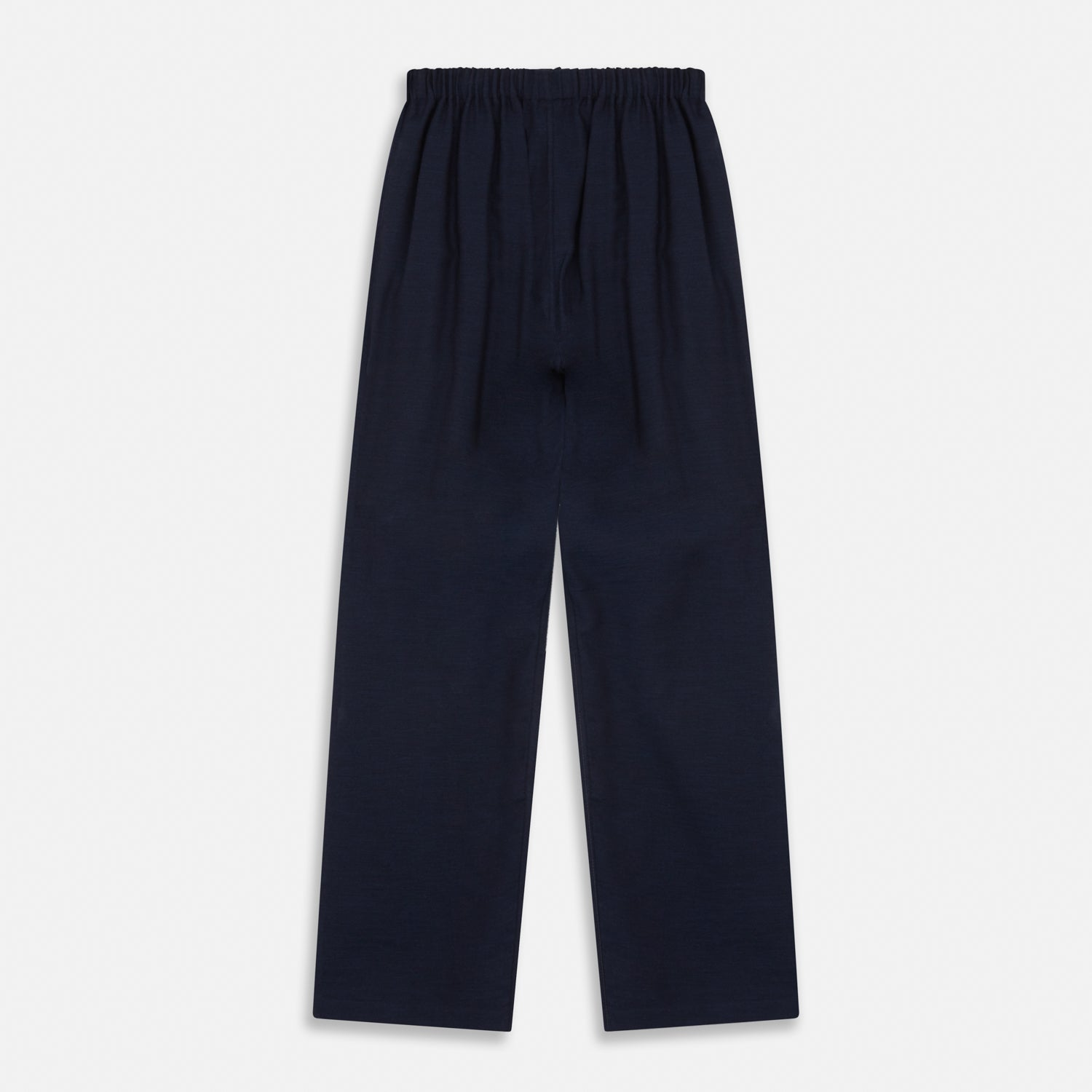Navy Cotton-Cashmere Pyjama Trousers