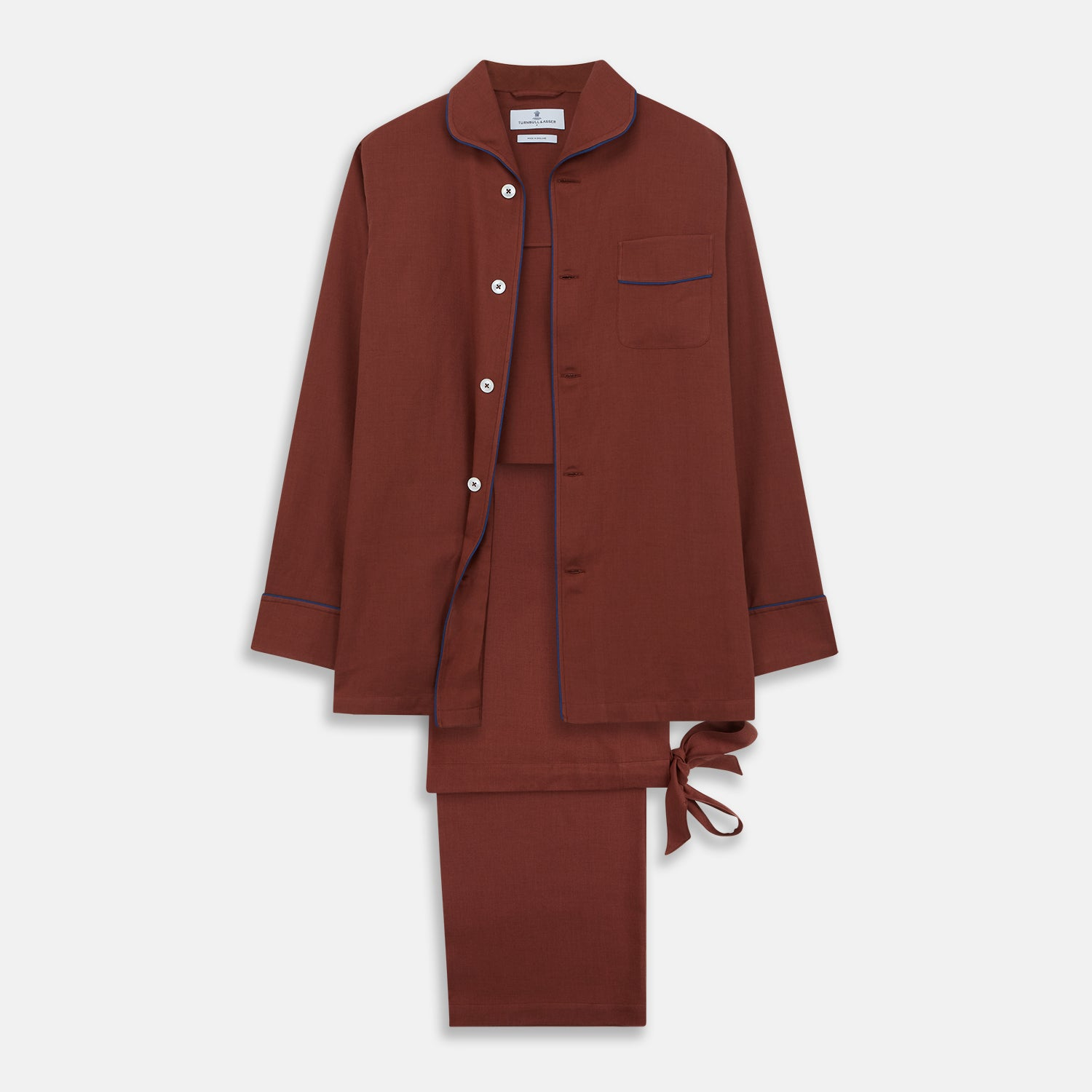 Red Cotton-Cashmere Pyjama Set