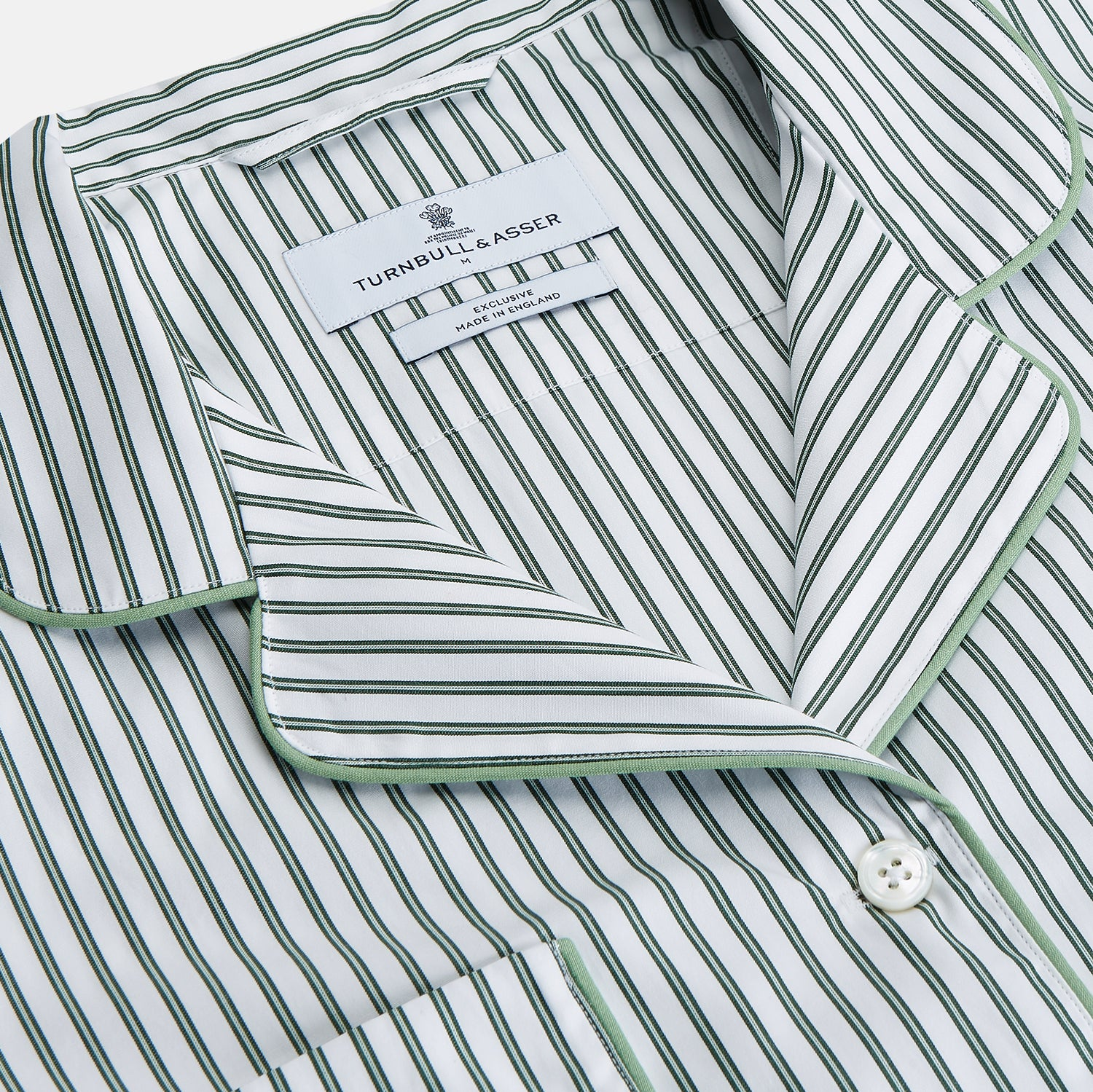 Women's Dara Green Stripe Pyjama Set