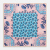 Pink Jellyfish Silk Print Pocket Square
