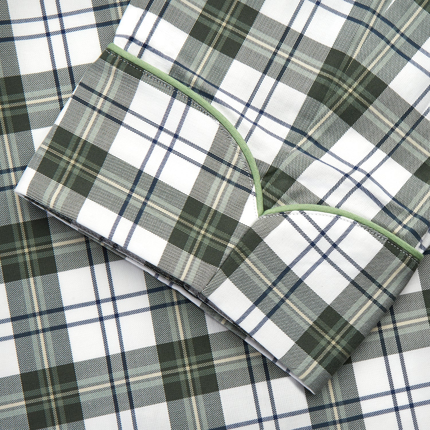 Green Check Cotton Gown