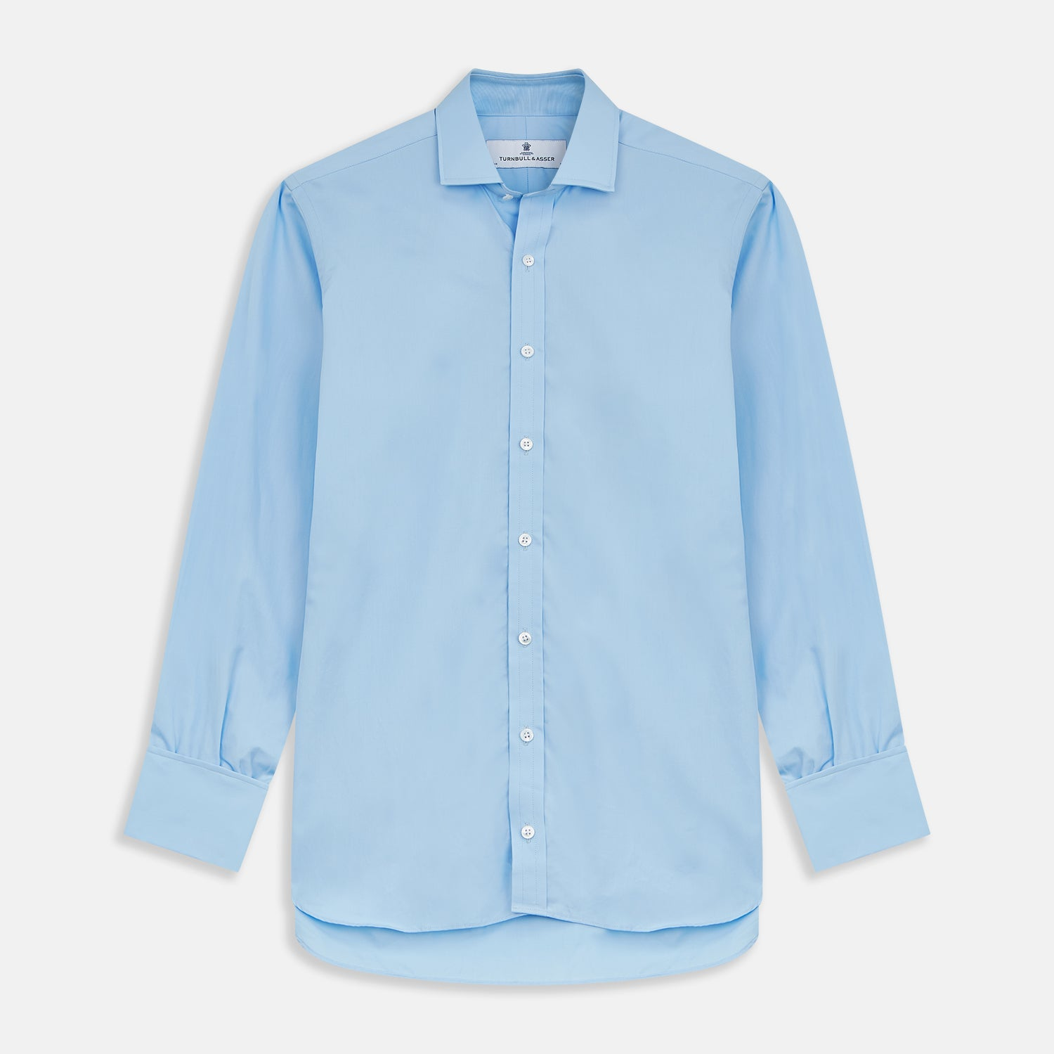 Dr. No Blue Cotton Shirt With Cocktail Cuff As Seen On James Bond