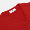 Red Cashmere V-Neck Jumper