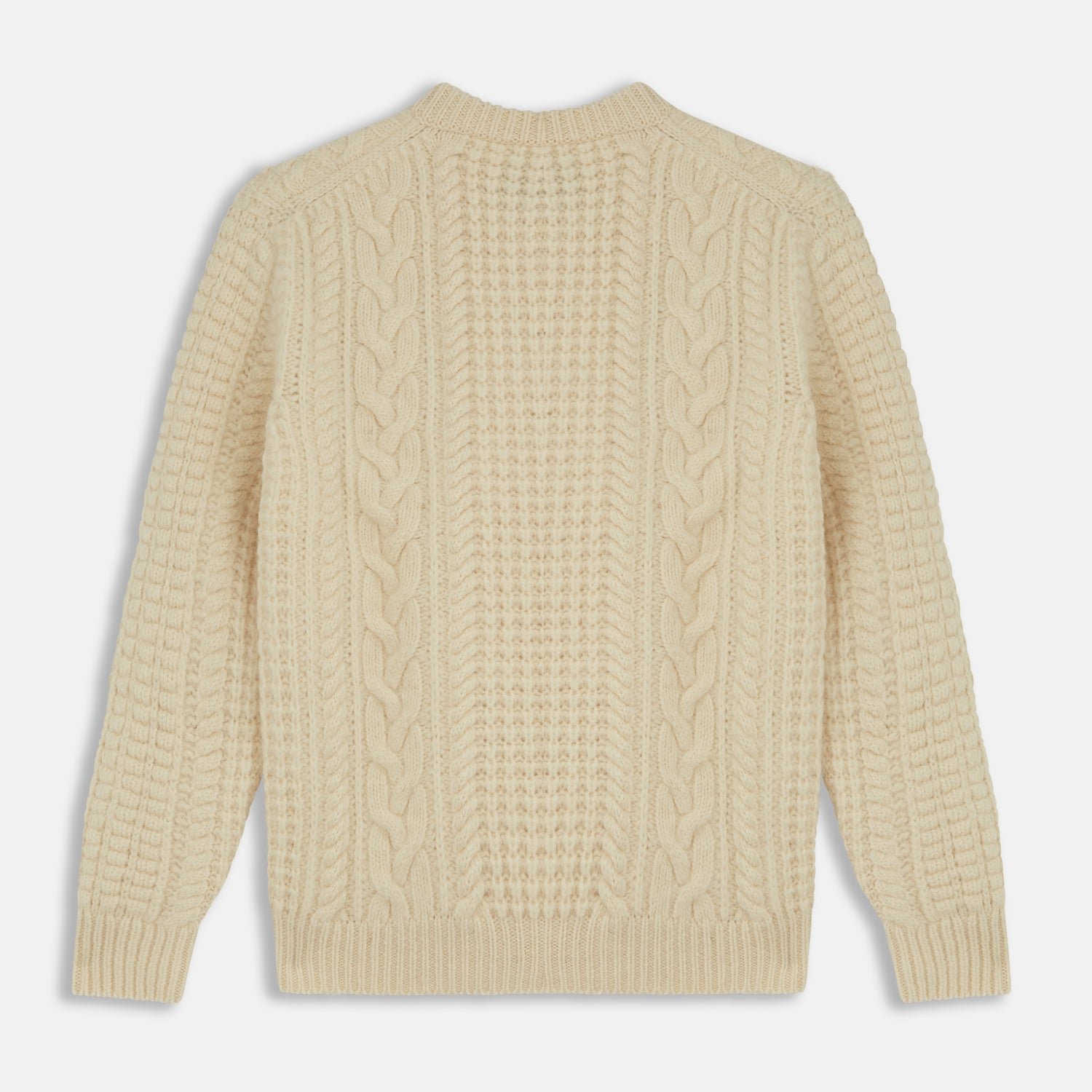Cream Welsh Aran Jumper
