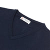 Navy V-Neck Cashmere Slipover