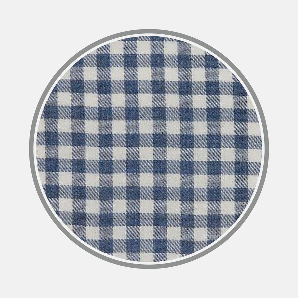 Blue Multi Check Cotton Fabric