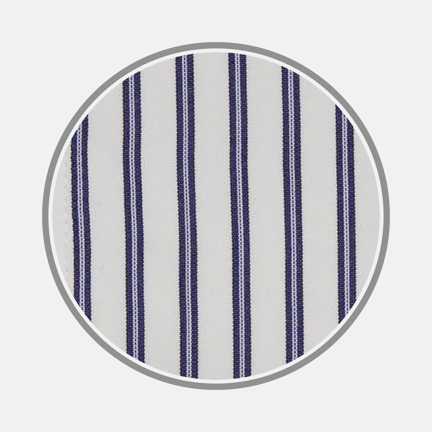 Blue Stripe Cotton Fabric