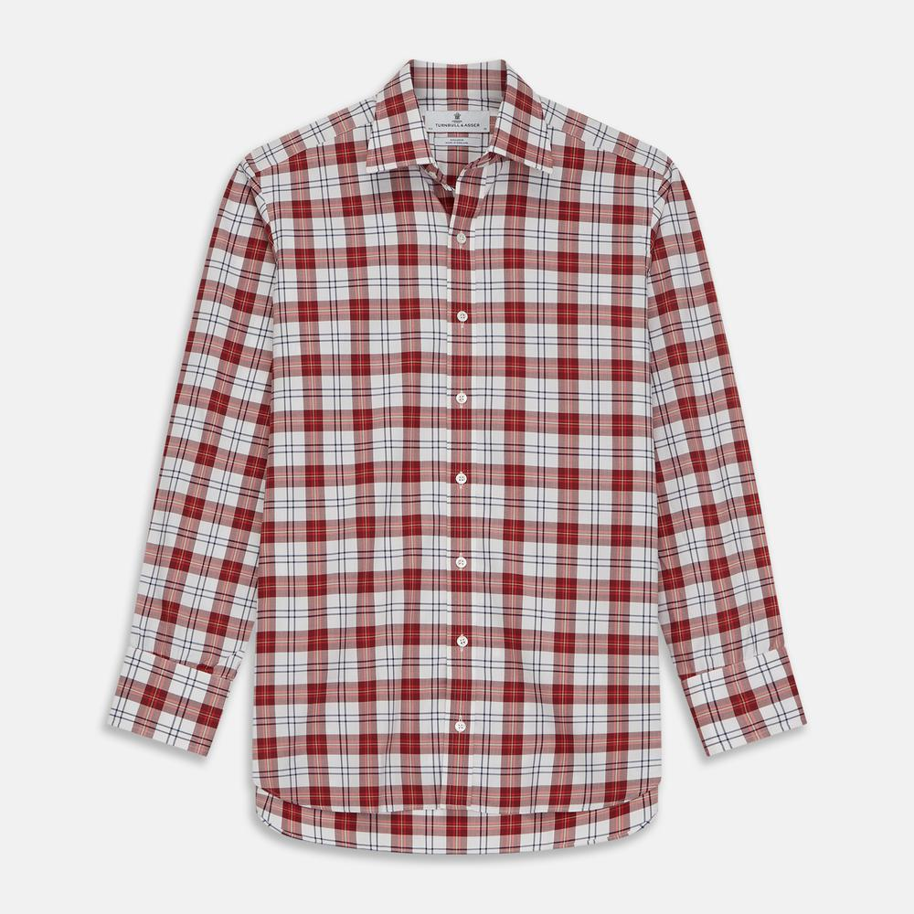 Red Check Cotton Fabric
