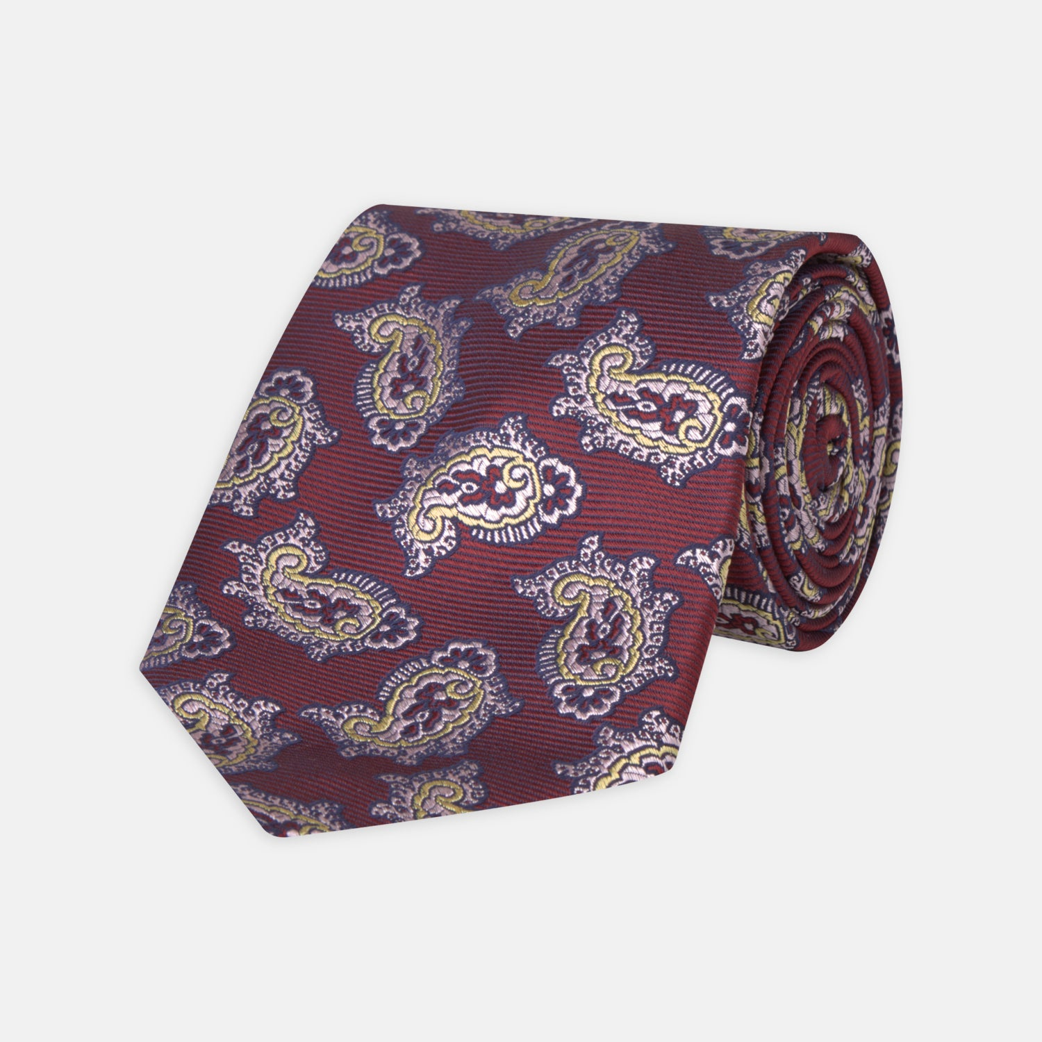 Burgundy Traditional Paisley Silk Tie