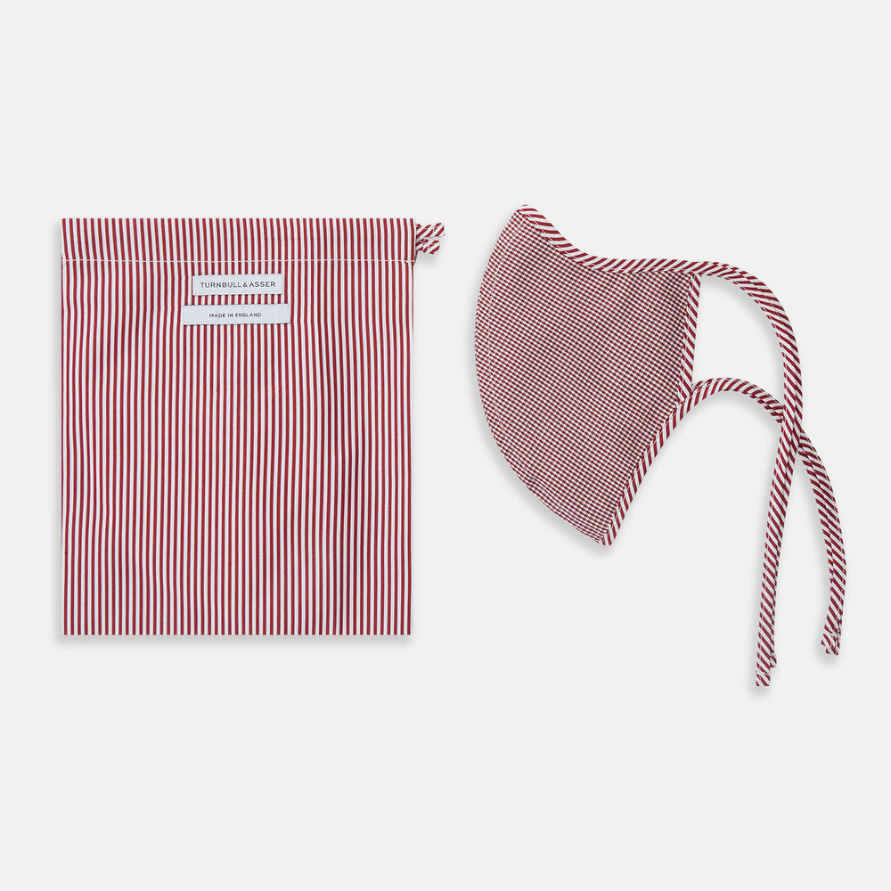 Burgundy Check Commuter Mask With 3 Viroformula™ Filters
