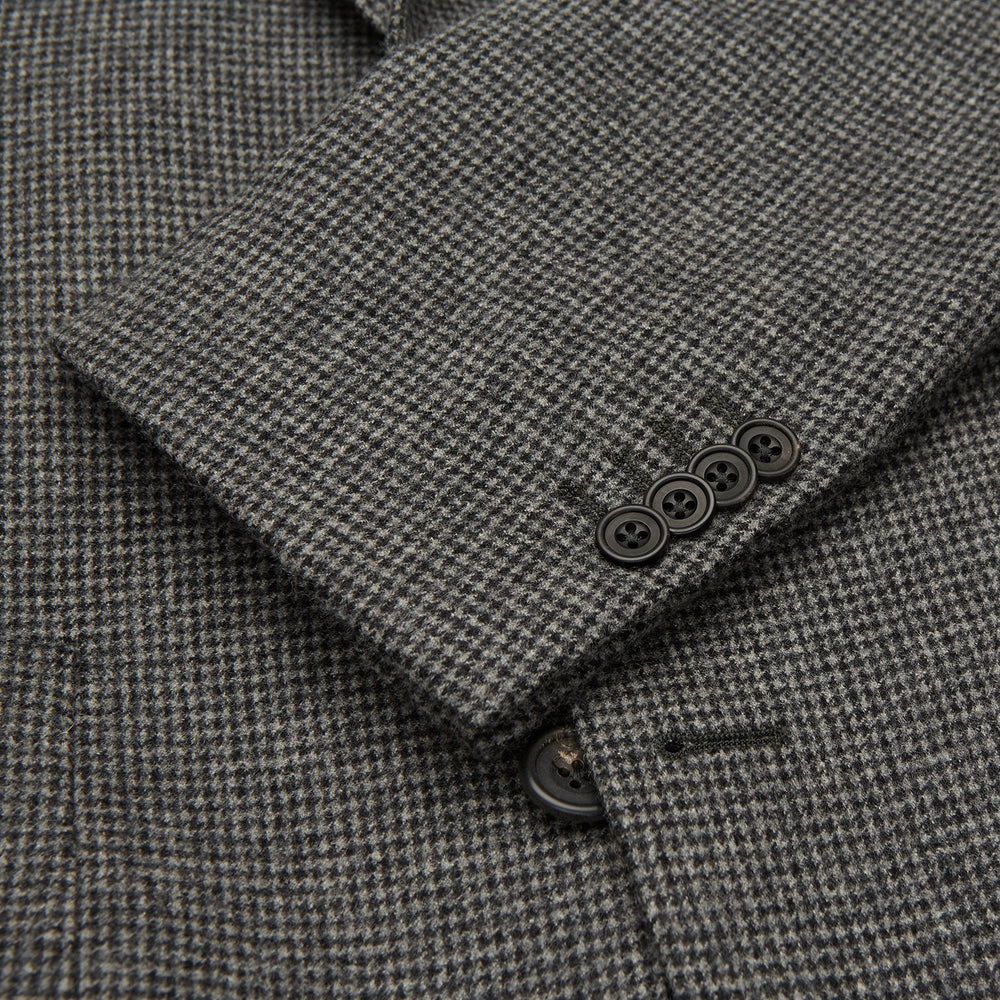 Charcoal Houndstooth Flannel Jacket