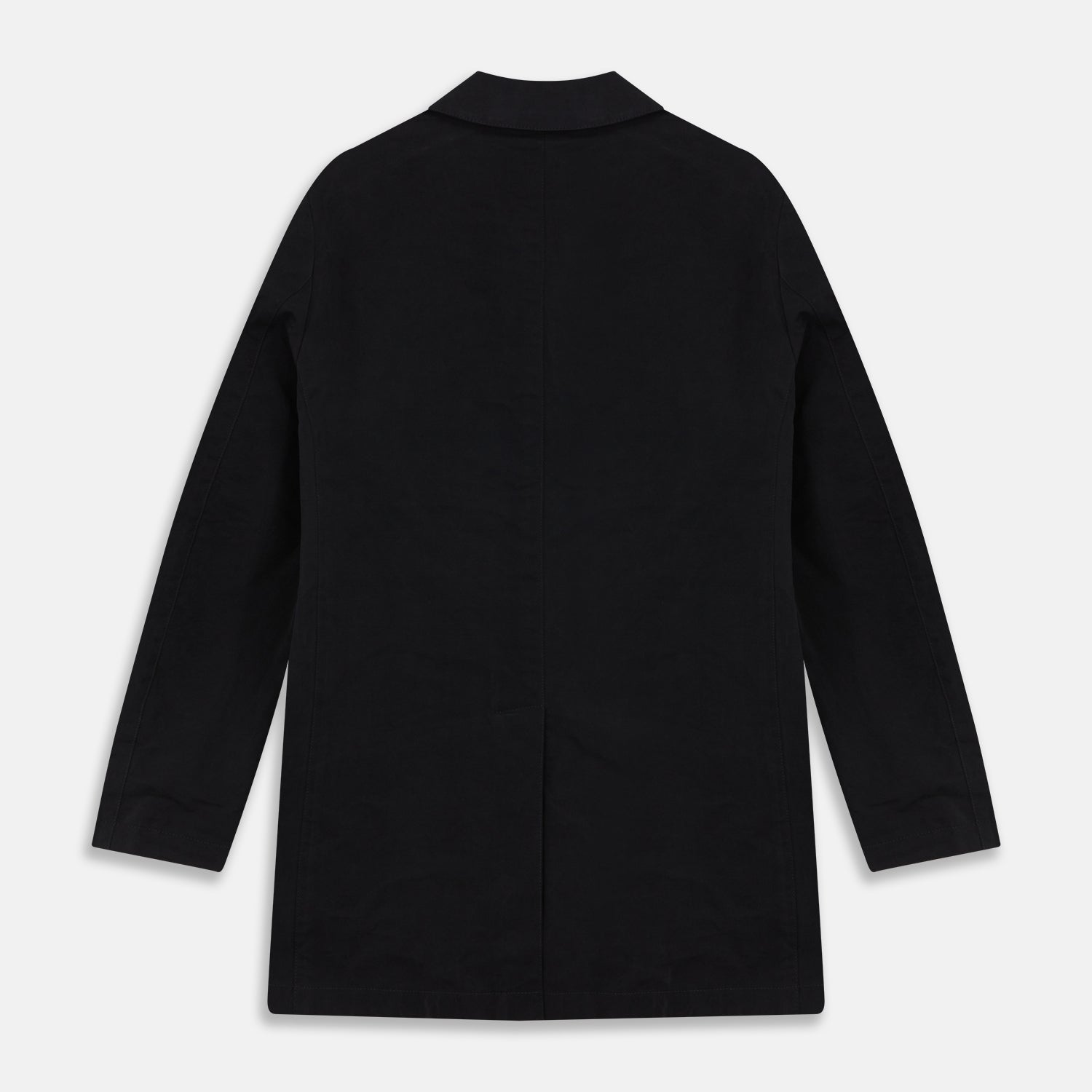 Navy Modern Car Coat