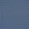 Navy Hexagonal Print Silk Pocket Square