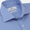 Oxford Blue Fancy Stripe Tailored Fit Shirt with Kent Collar and 2-Button Cuffs