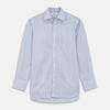 Blue And Pink Stripe Poplin Cotton Regular Fit Shirt with T&A Collar and 3-Button Cuffs