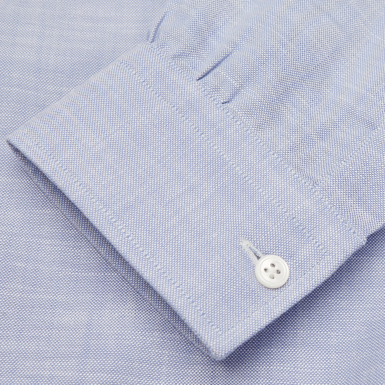 Blue Chambray Weekend Fit Shirt with Dorset Collar and 1-Button Cuffs