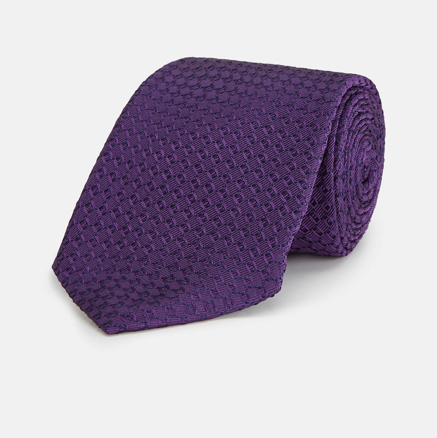 Purple Abstract Tonal Silk Jacquard Tie