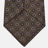 Chocolate Brown Floral Geometric Silk Jacquard Tie