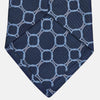 Navy and Powder Blue Circle Jacquard Silk Tie