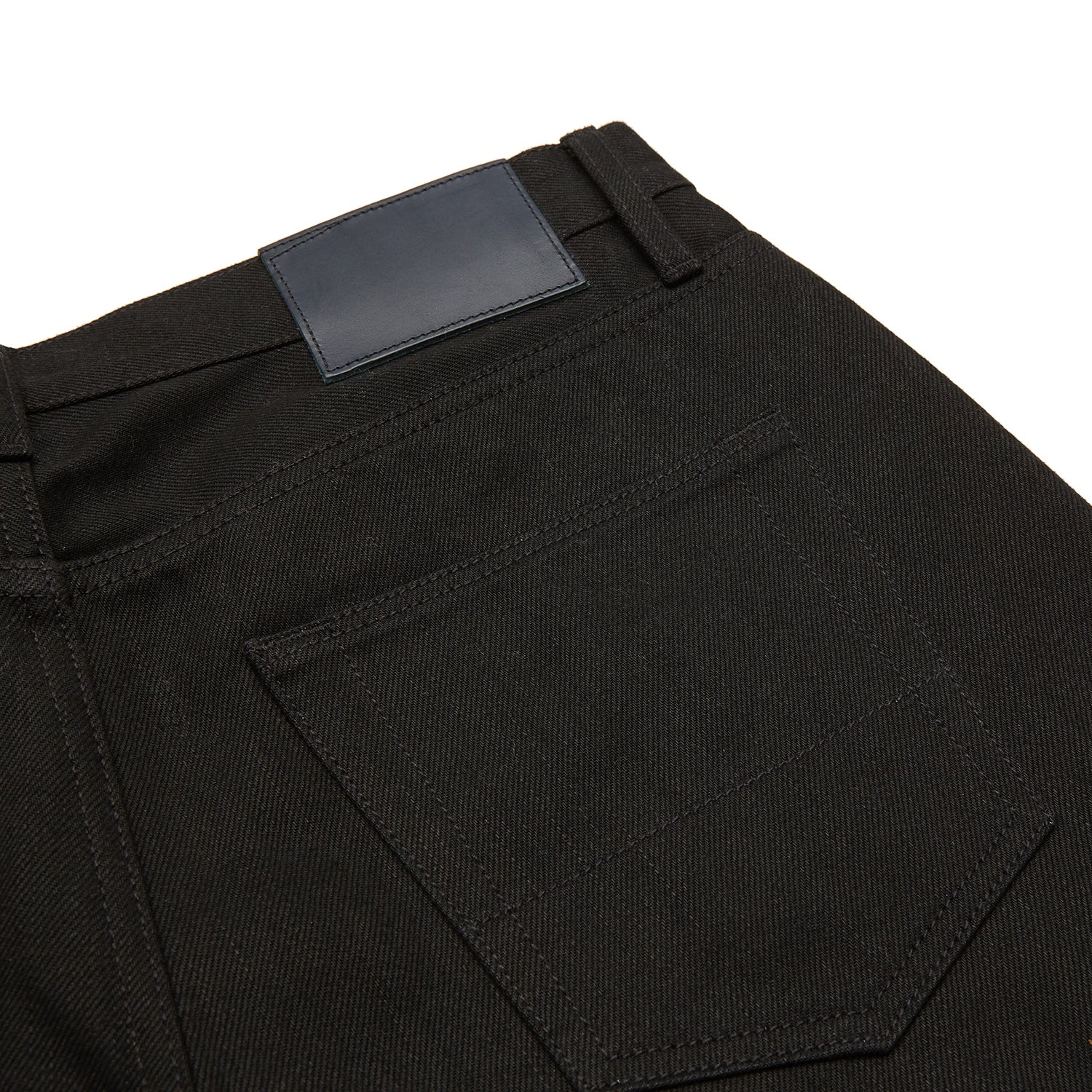 Black Italian Selvedge Denim Jeans