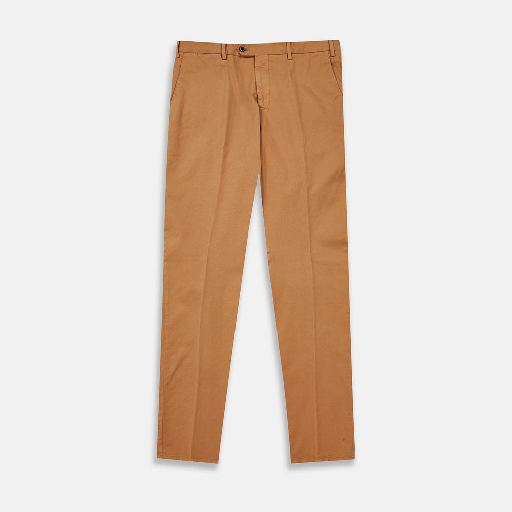 Tan Garment Dyed Cotton Chinos