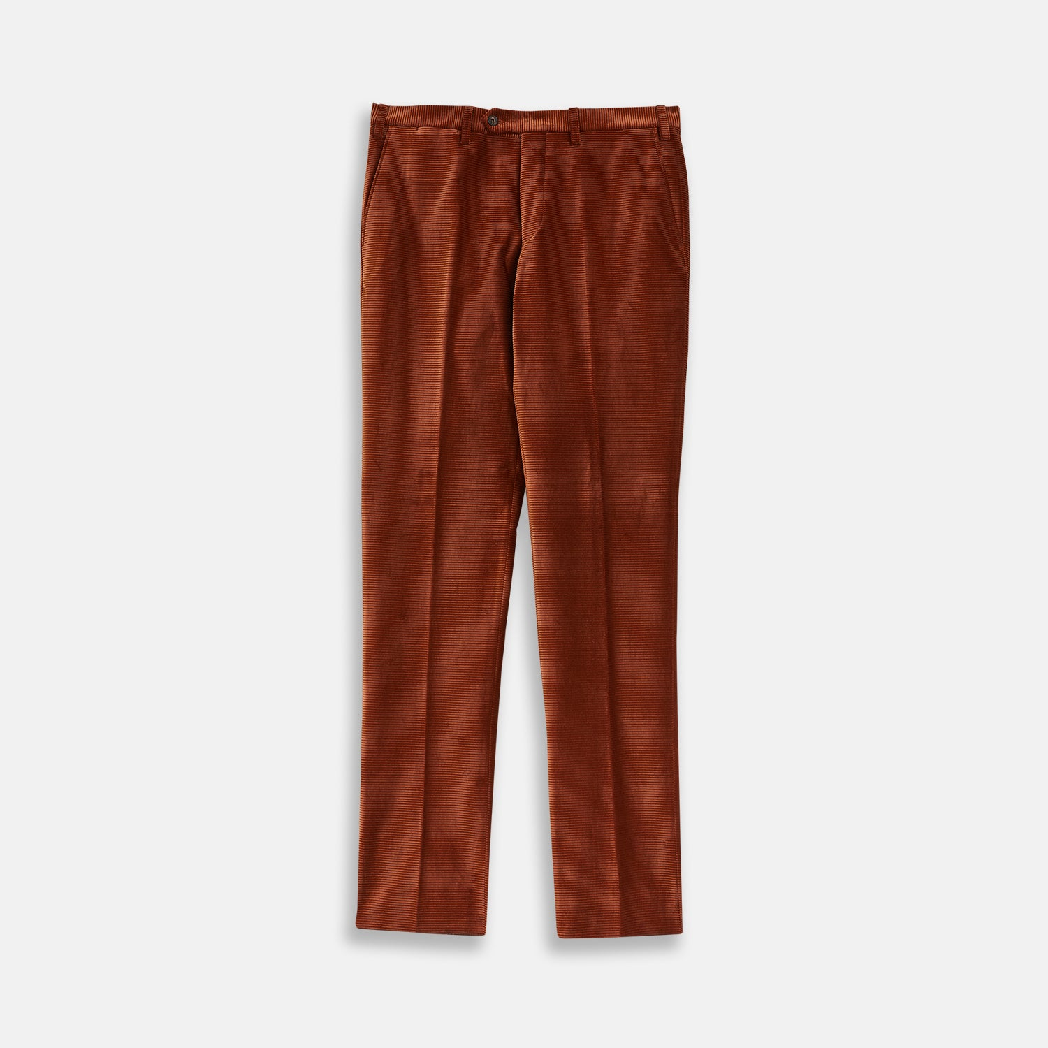Rust Horizontal Cord Trousers