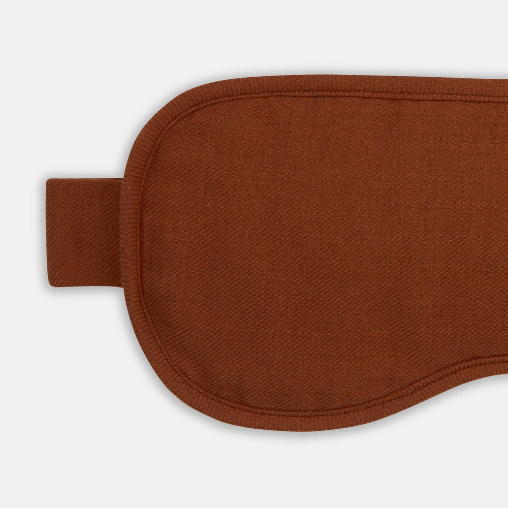 Rust Cotton Cashmere Sleep Mask