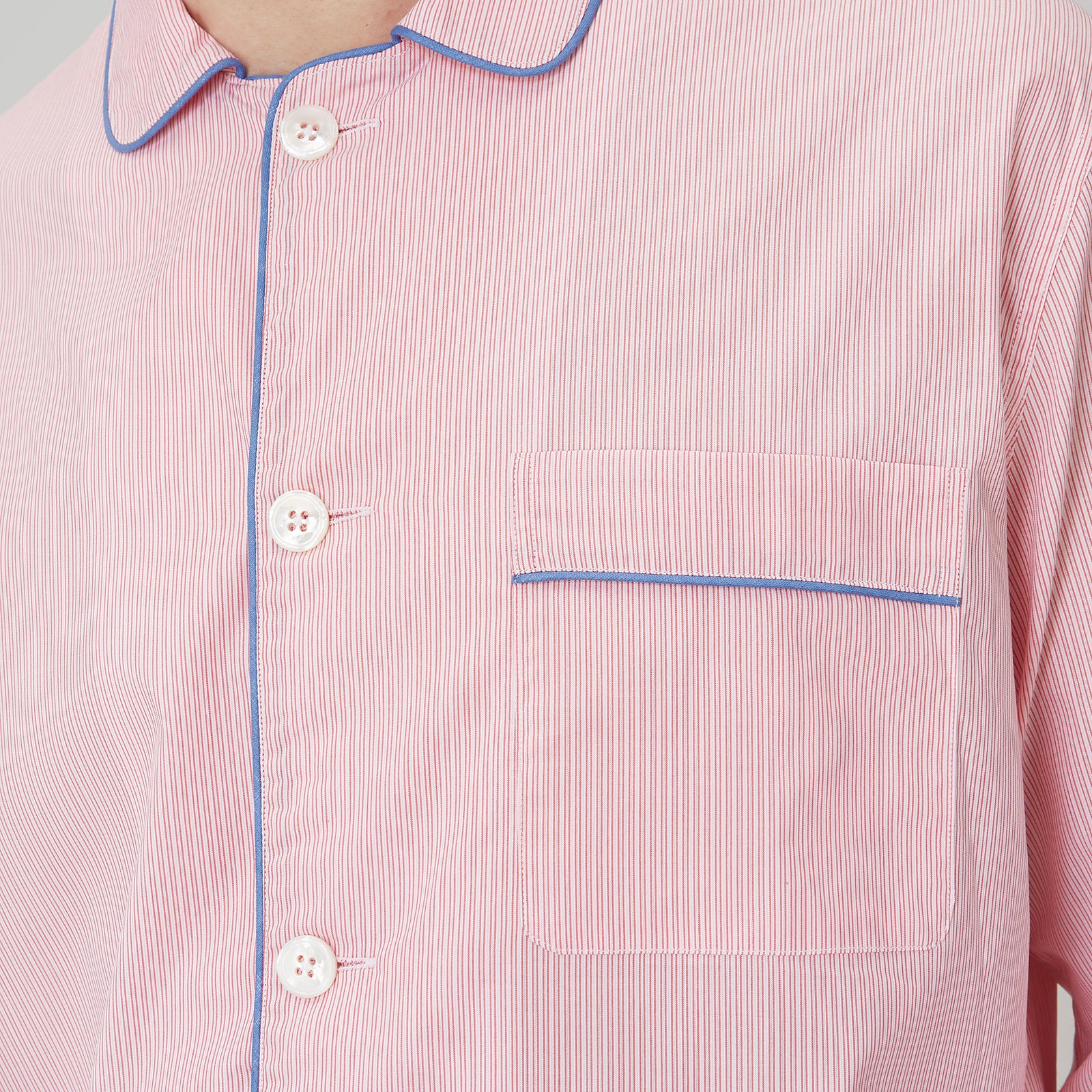 Pink Stripe Cotton Modern Pyjama Set