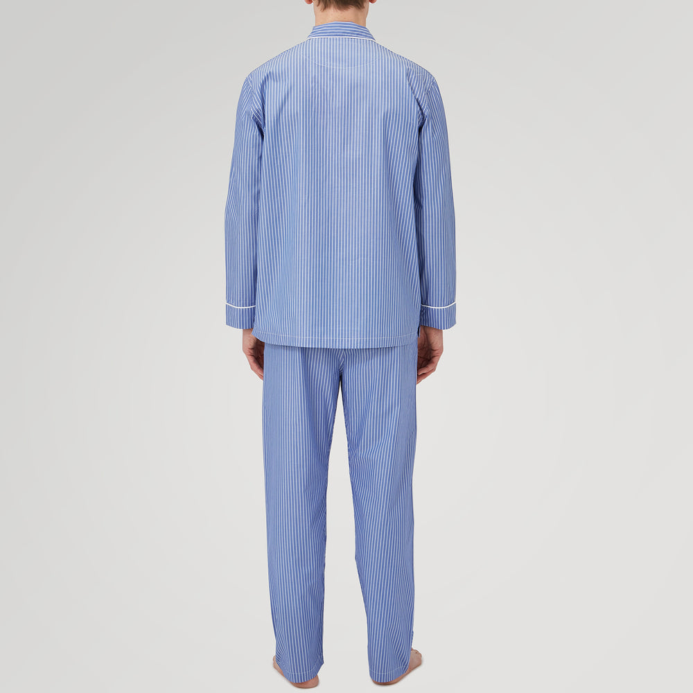 Blue Stripe Cotton Modern Pyjama Set