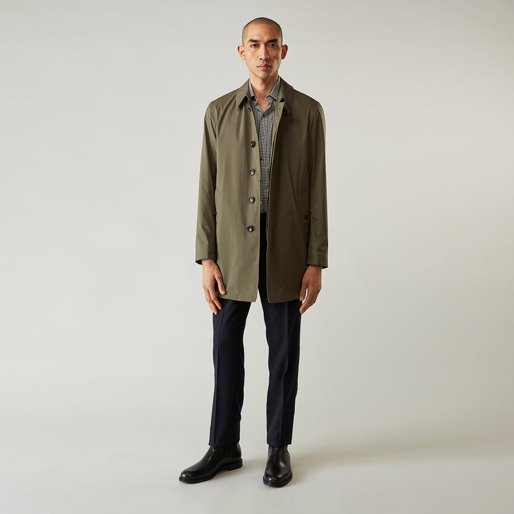 Khaki Bertram Packable Raincoat