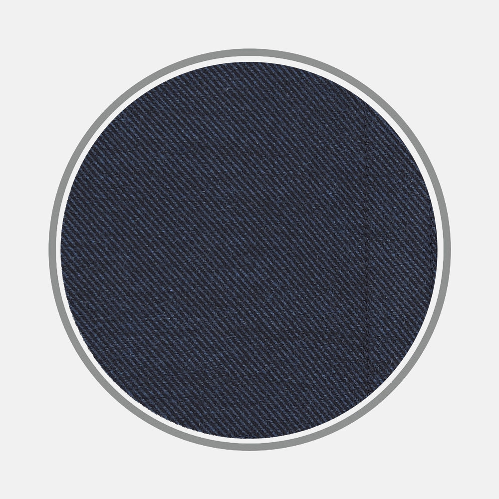 Navy Cashmere Blend Fabric