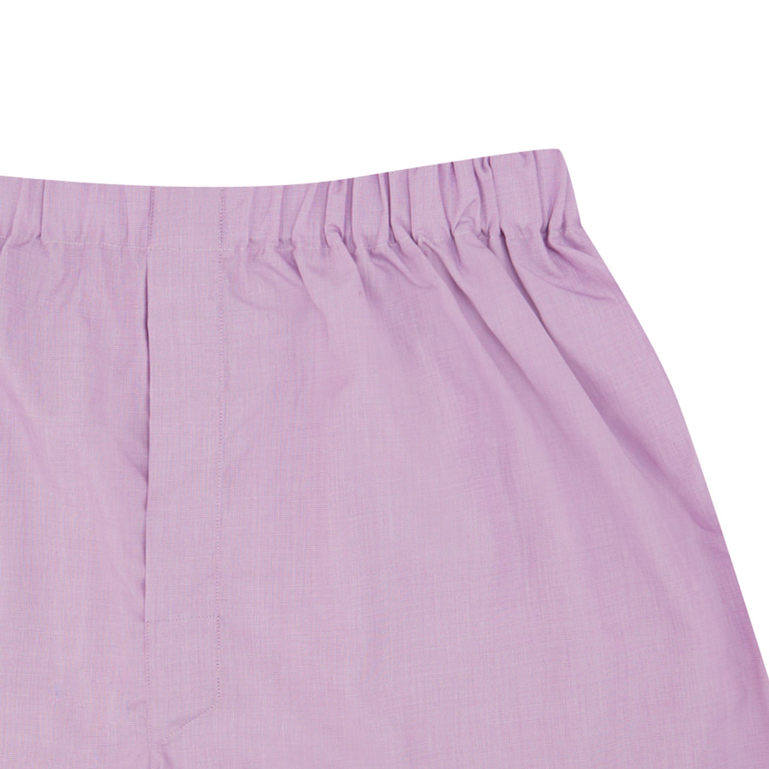 Lilac End-On-End Cotton Boxer Shorts