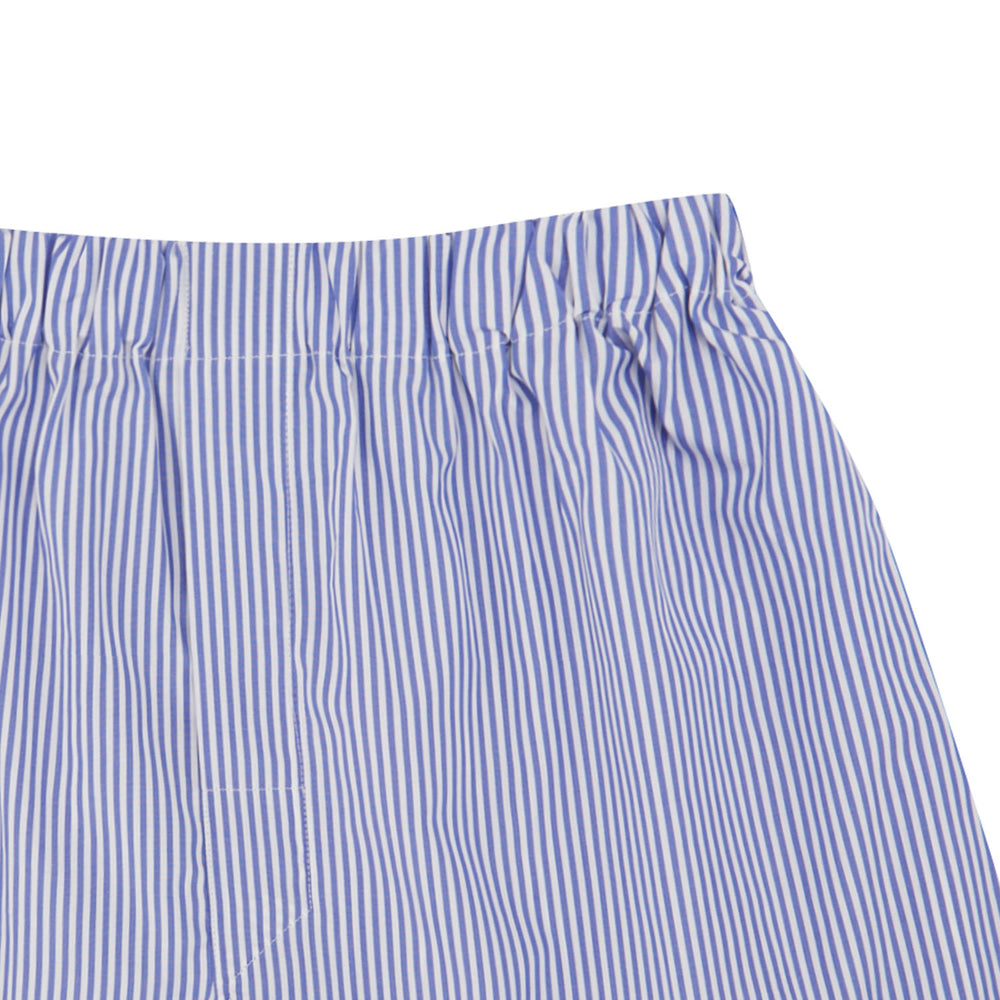 Blue Bengal Stripe Cotton Boxer Shorts