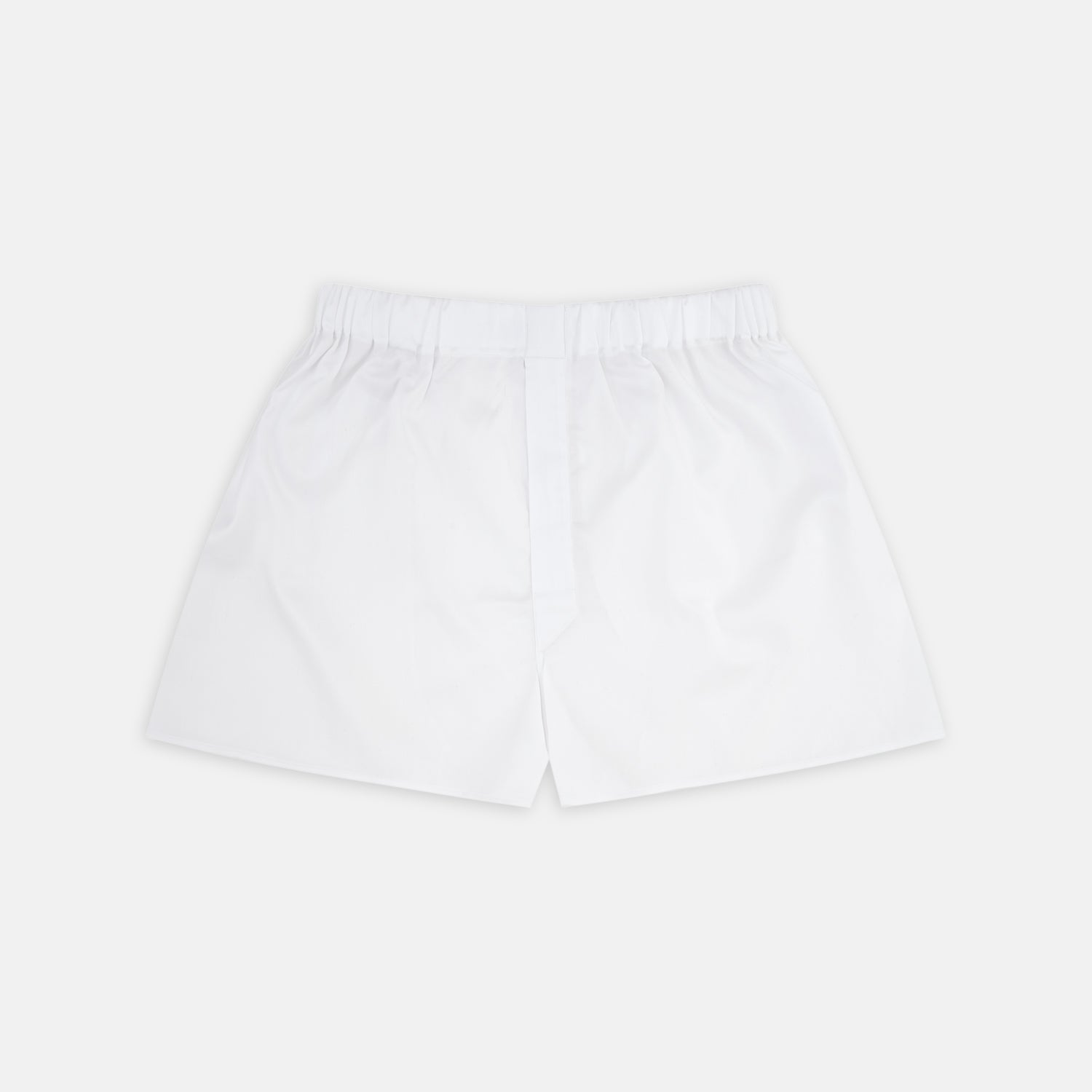White Herringbone Sea Island Quality Cotton Boxer Shorts