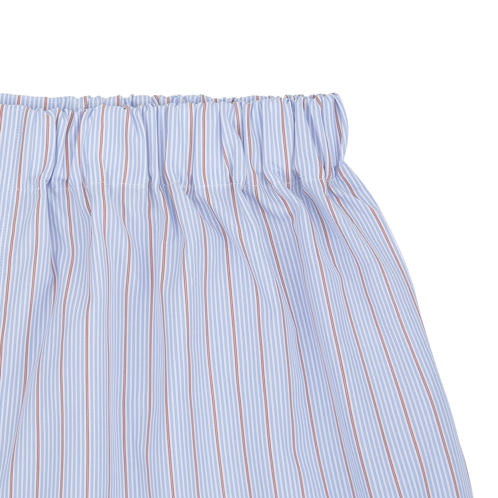 Sky Blue and Pink Pinstripe Cotton Boxer Shorts