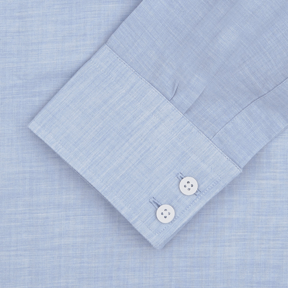 Esquire Edit Tailored Fit Light Blue Shirt with Kent Collar and 2-Button Cuffs