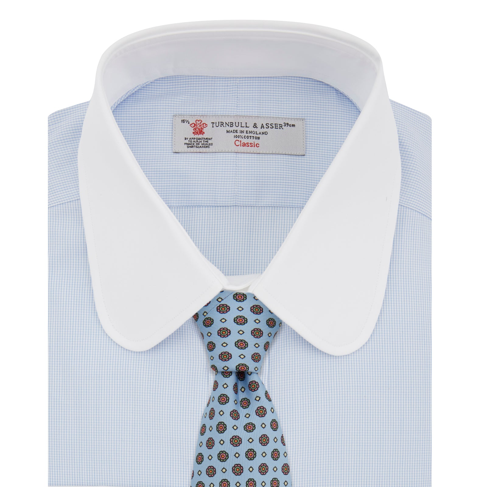 The Great Gatsby Cotton Shirt with White Collar and Double Cuffs