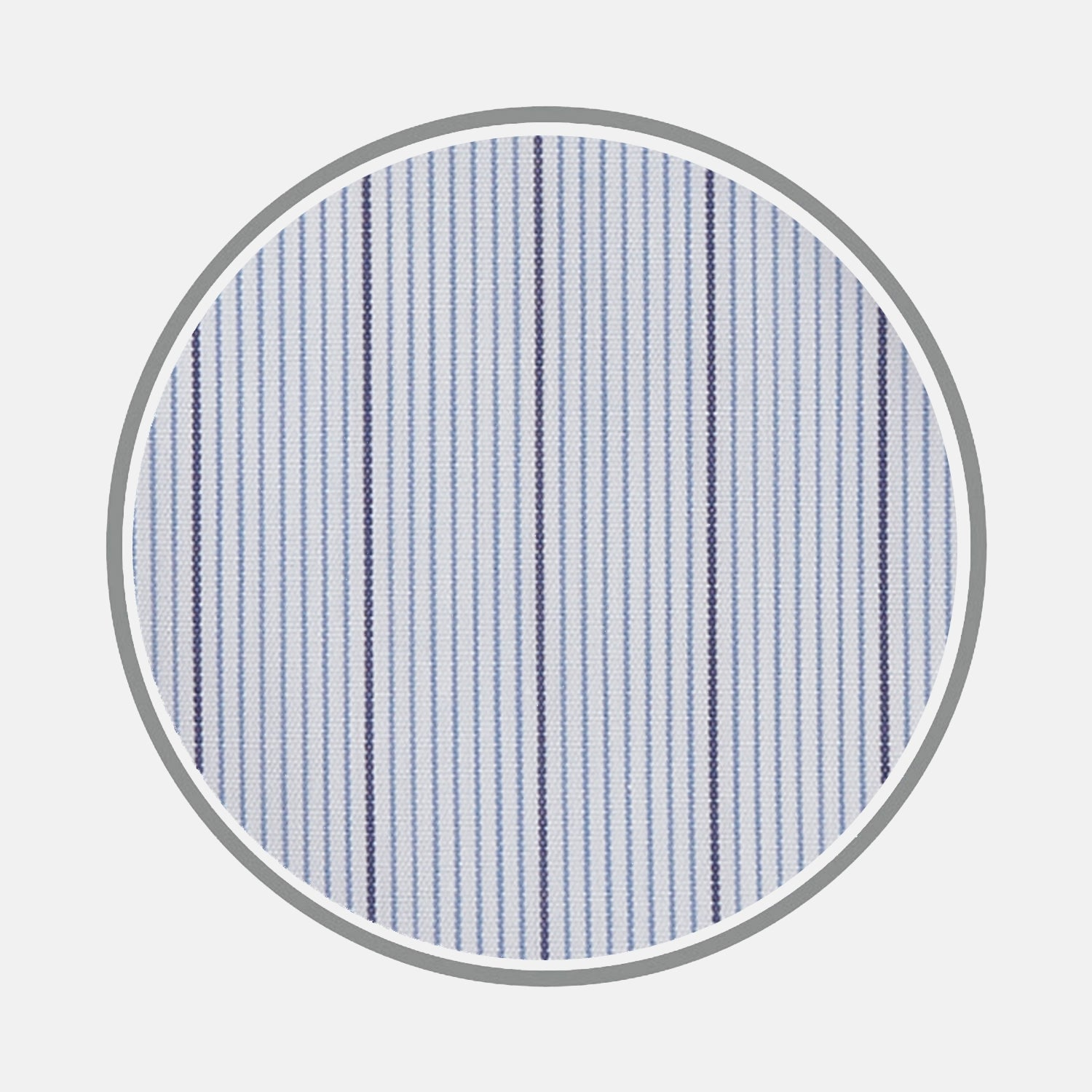 Blue and Navy Fine Stripe Cotton Fabric