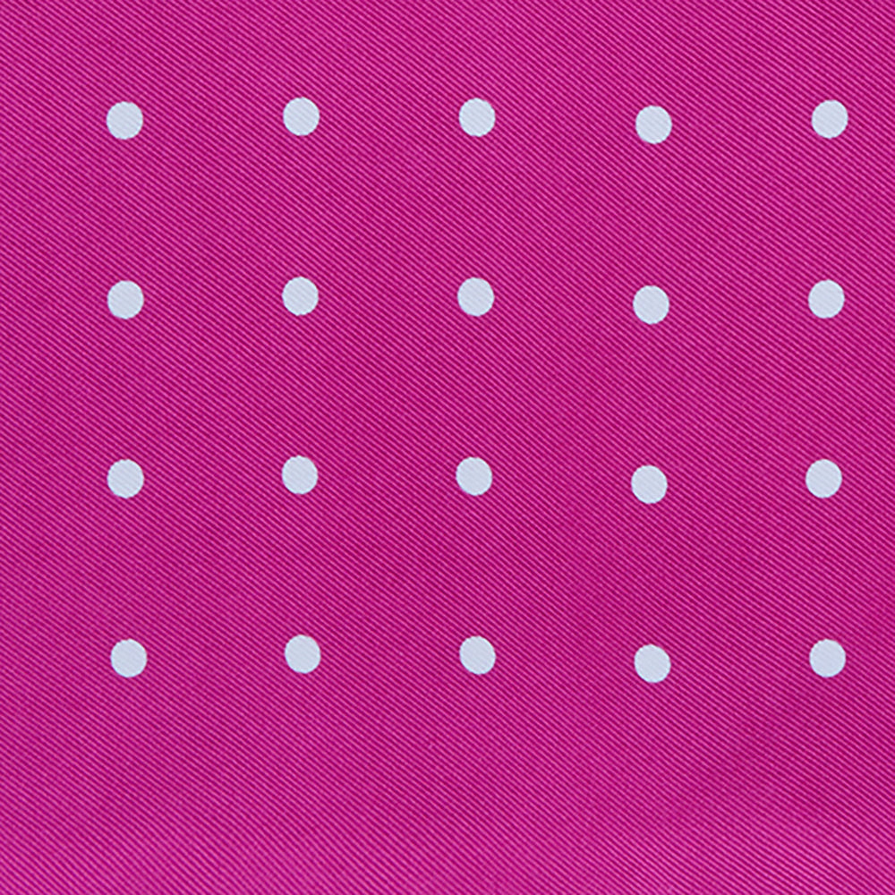 Fuchsia Spot Silk Pocket Square