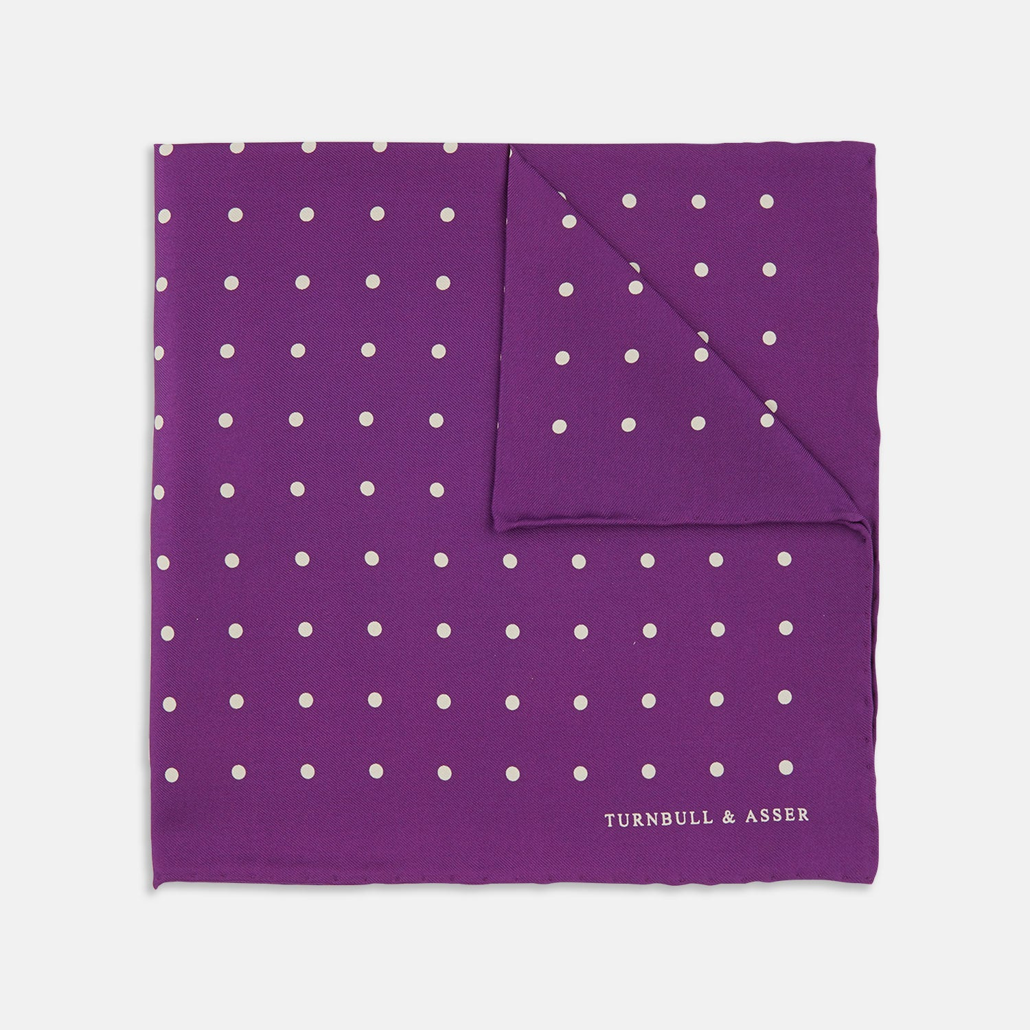 Purple Spot Silk Pocket Square