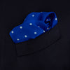 Bright Blue Spot Silk Pocket Square