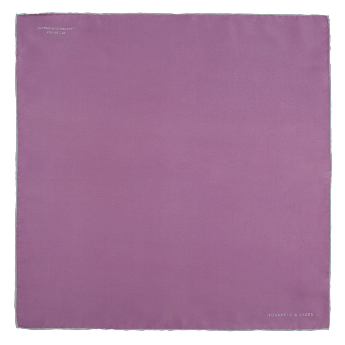 Lilac and White Piped Silk Pocket Square