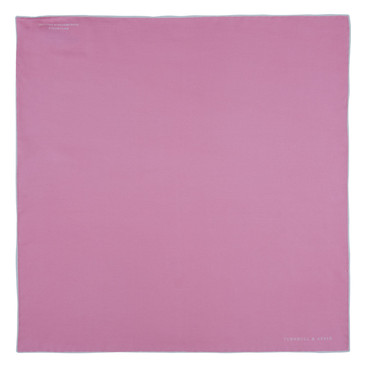 Pink and White Piped Silk Pocket Square