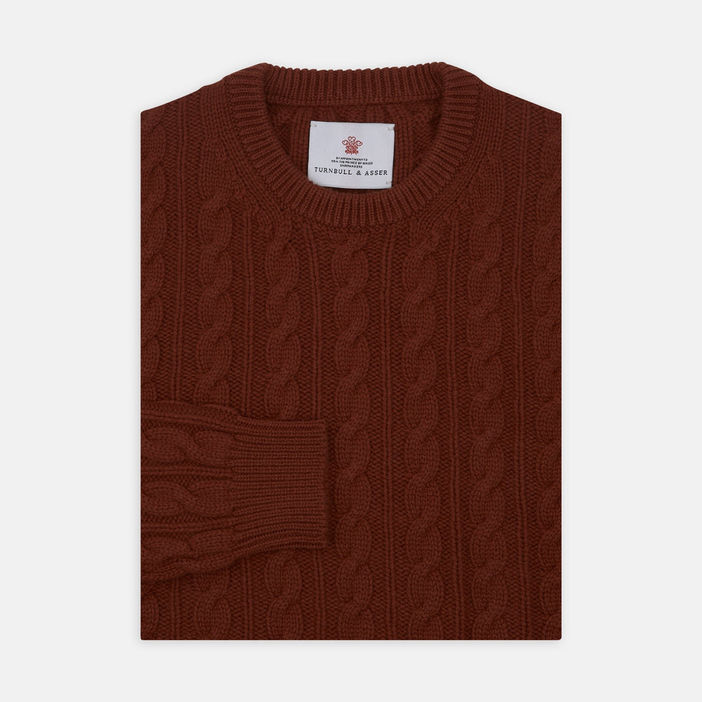 Harissa Crew Neck Cable Knit Cashmere Jumper